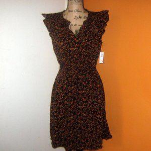 Old Navy Small Waist-Defined Flutter Sleeve Dress